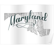 Maryland State Typography Poster