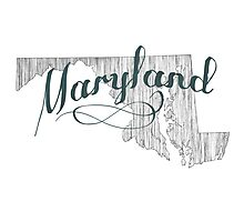 Maryland State Typography Photographic Print