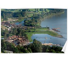 View of Mission and Fraser River, BC Poster