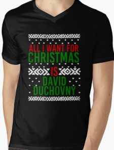 All I Want For Christmas (David Duchovny) Mens V-Neck T-Shirt