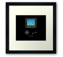 Retro Nintendo Game Boy Super Mario  Framed Print