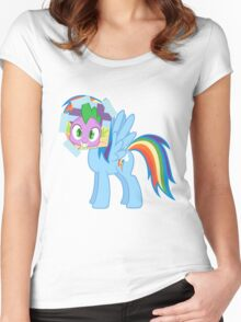 Spike as dash Women's Fitted Scoop T-Shirt