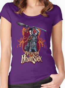 THIS IS MY BROOMSTICK!!! Women's Fitted Scoop T-Shirt