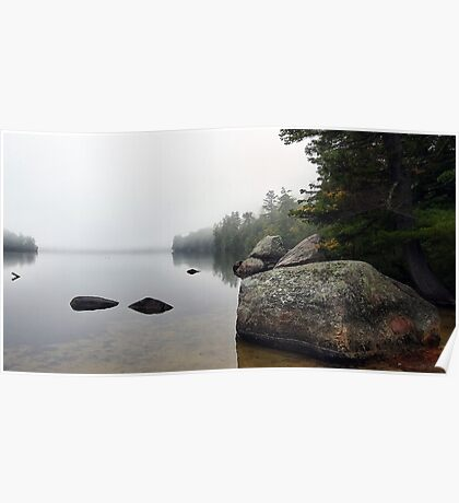 Granite Boulders - Bear Pond (Waterford,  Maine) Poster