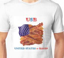 USB - UNITED STATES OF BACON FLAG Unisex T-Shirt
