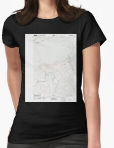 USGS Topo Map Oregon Astoria 20110901 TM Womens Fitted T-Shirt