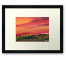 Fall in the Prairies Framed Print