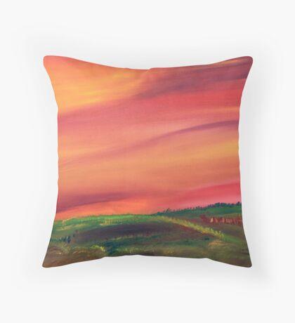 Fall in the Prairies Throw Pillow