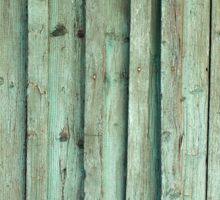 Detail of the old fence from wooden planks Sticker