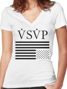 ASAP Mob - Flag Women's Fitted V-Neck T-Shirt
