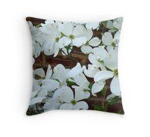 Flowering Dogwood Throw Pillow