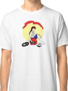Record Player Pinup - Vinyl Girl Classic T-Shirt