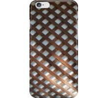 Wall of the building covered wooden planks crosswise iPhone Case/Skin