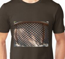 Wall of the building covered wooden planks crosswise Unisex T-Shirt