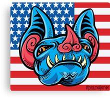 Patriotic Bat Canvas Print