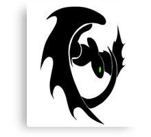 How To Train Your Dragon Nightfury Symbol Canvas Print
