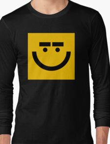 Square Smiley Long Sleeve T-Shirt