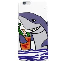 Funny Cool Shark Drinking a Bloody Mary iPhone Case/Skin