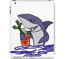 Funny Cool Shark Drinking a Bloody Mary iPad Case/Skin