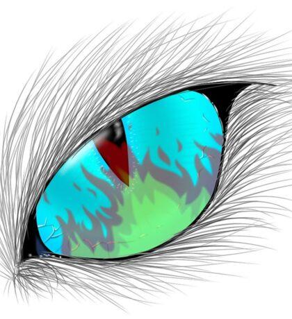 Cat Eye Fire Reflection Sticker