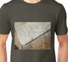 Detail of old sundial clock face closeup Unisex T-Shirt