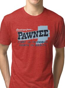 Greetings from Pawnee Tri-blend T-Shirt