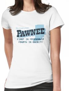 Greetings from Pawnee Womens Fitted T-Shirt