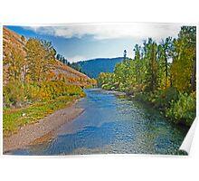 Early Fall on the Big Blackfoot, Powell County, Montana, USA Poster