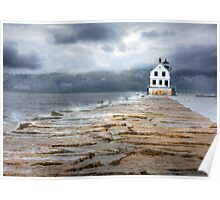 Breakwater Lighthouse - Rockland Poster