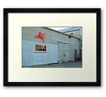 Clunes Garage Framed Print