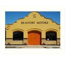 Beaufort Motors Art Print