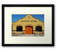 Beaufort Motors Framed Print