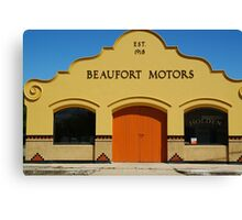 Beaufort Motors Canvas Print