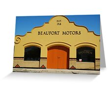 Beaufort Motors Greeting Card