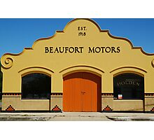 Beaufort Motors Photographic Print