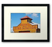 Beaufort Fire Station Framed Print