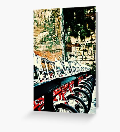 Barcelona Bicycles Greeting Card
