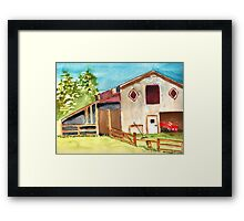 Shire Stables Framed Print
