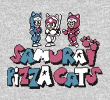 Pizza Cats 8bit Kids Clothes
