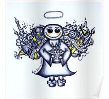 Birthday Angel (blue version) Poster