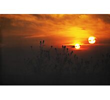Binary Sunset Photographic Print