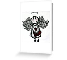 Angel Heart - bringing you some love! Greeting Card