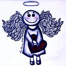 Angel Heart - sending love your way! by Lisa Frances Judd ~ Original Australian Art