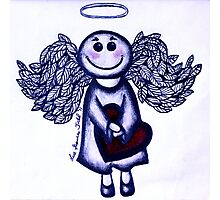 Angel Heart - sending love your way! Photographic Print