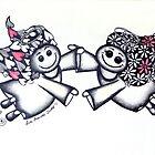 Angel Hugs - truly smitten! by Lisa Frances Judd~QuirkyHappyArt