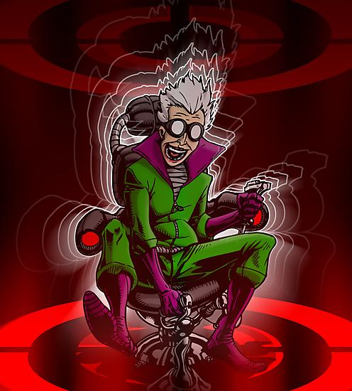 Professor Mad Brainer in her Insane Brain Cockpit  by Michael Lee