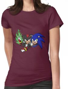 Sonic and Shadow Selfie Womens Fitted T-Shirt