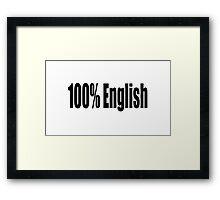 English Framed Print