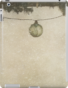Christmas Baubles in the Snow by Denise Abé