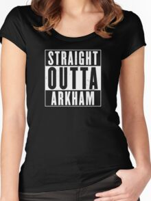 Straight Outta Arkham Women's Fitted Scoop T-Shirt
